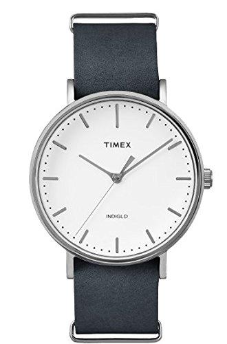 Timex Fairfield Herrenuhr Silber und Schwarz tw2p91300