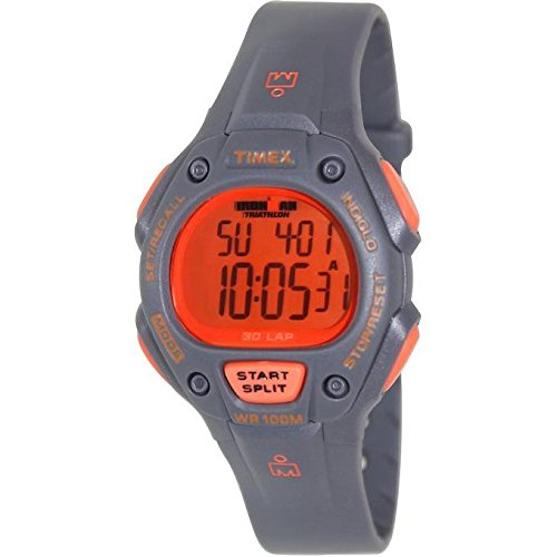 Timex 38mm Armband Plastik Grau Gehaeuse Quarz Zifferblatt Marine Digital T5K764