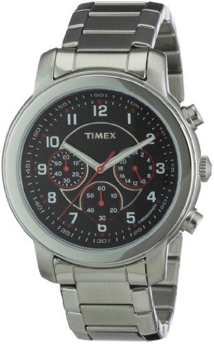 Timex Herren Armbanduhr XL Milan Chronograph Chronograph Edelstahl T2N166