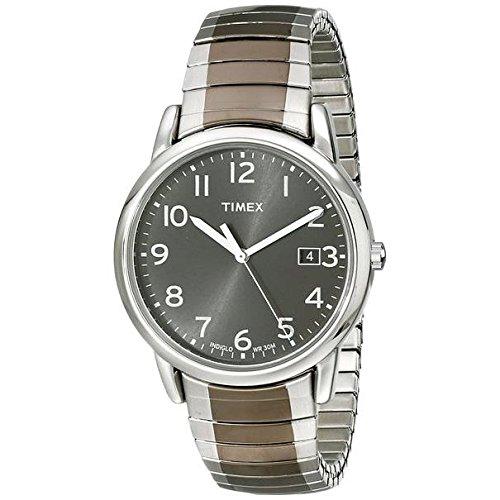 Timex Armband Edelstahl Gehaeuse Quarz Zifferblatt Schwarz Analog T2N949