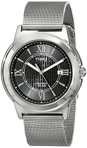 Timex Herren Armbanduhr t2p5199j Main Street Kleid Analog Display Analog Quarz Silber