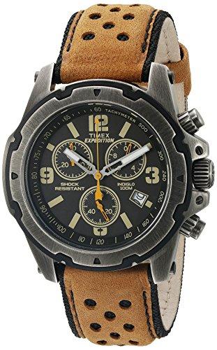 Timex Herren tw4b015009j Expedition Rugged Edelstahl Uhr mit Braun Band