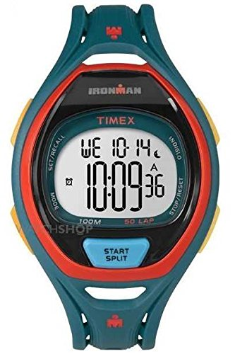 Timex Herren Indiglo Iron Man Sleek Alarm Chronograph dunkelgruen tw5 m01400