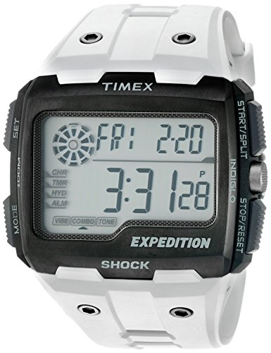 Timex Maennern Expedition Grid Shock Quarz Kunstharz Camping Uhr Farbe Weiss Modell tw4b040009j