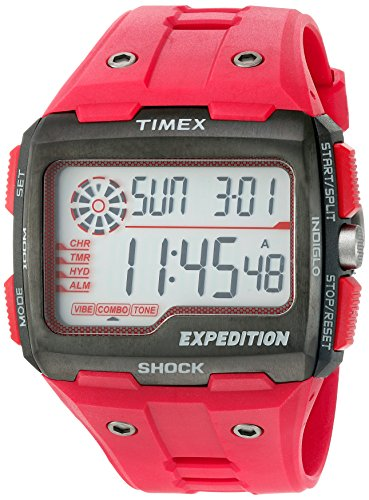 Timex Maennern Expedition Grid Shock Quarz Kunstharz Camping Uhr Farbe Rot Modell tw4b039009j