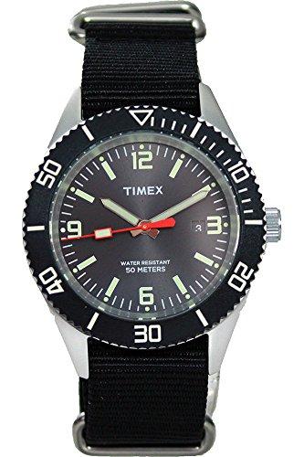Timex t2 N534 N Originals Armbanduhr Quarz Analog Zifferblatt schwarz Armband Stoff schwarz