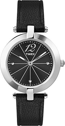 Timex t2p544 Classics Quarz Analog Zifferblatt schwarz Armband Leder schwarz