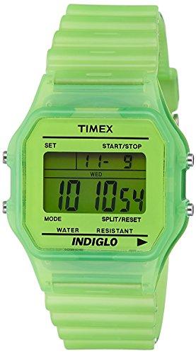 Timex t2 N806 T80 Classic Armbanduhr Quarz Digital Zifferblatt Gruen Armband Kunstharz gruen