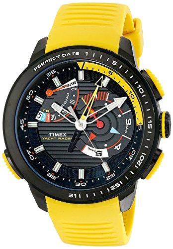 Timex Herren tw2p44500dh Intelligent Quartz Yacht Racer Armbanduhr mit Gelb Silikon Band