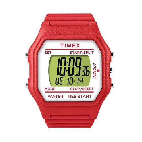 Timex Unisex Jumbo Face rot weiss Armbanduhr t2 N074