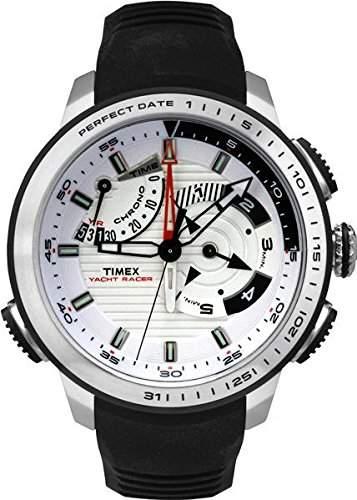 Timex Herren-Armbanduhr Analog Quarz One Size, weiss, schwarz