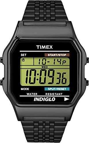 Timex Unisex-Armbanduhr Digital Quarz Edelstahl TW2P48400