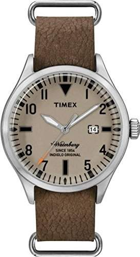 Timex Herren-Armbanduhr Analog Quarz One Size, braun, braun