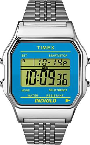 Timex Unisex-Armbanduhr Digital Quarz Edelstahl TW2P65200