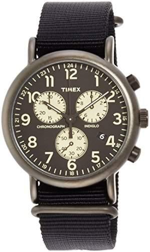 Timex Weekender Damenuhr Analog Quartz Nato Schwarz TW2P71500