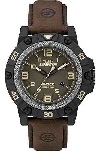 Timex Herren-Armbanduhr Analog Quarz Leder TW4B01200