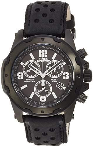 Timex Herren-Armbanduhr Analog Quarz Leder TW4B01400