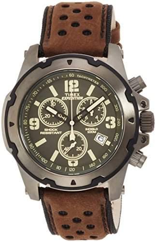 Timex Herren-Armbanduhr Analog Quarz Leder TW4B01600