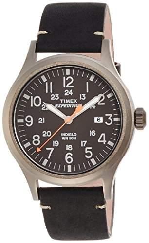 Timex Herren-Armbanduhr Analog Quarz Leder TW4B01900