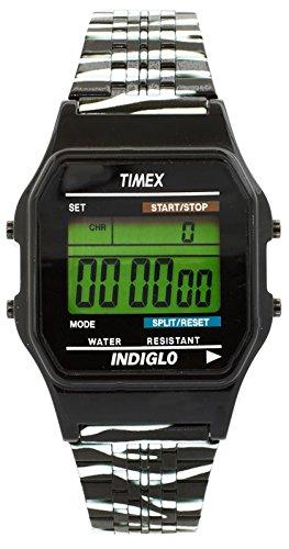 Uhrenarmband Timex t2 N785 Zebra Digital Stahl Juventus Indiglo