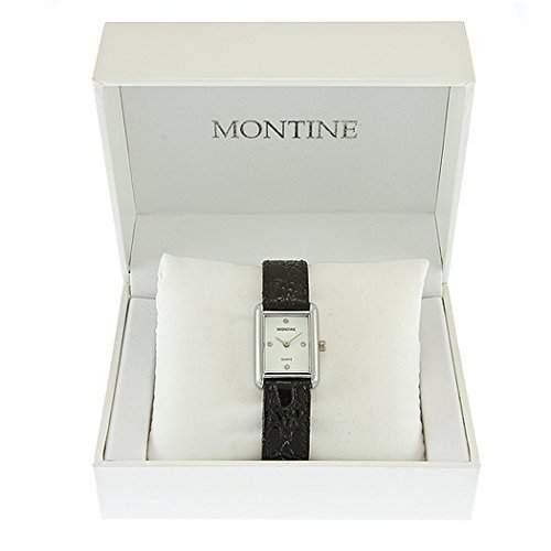 Montine Herren Herren Schwarzes Band Weisses Zifferblatt Silber Armbanduhr DN001S4GIPS