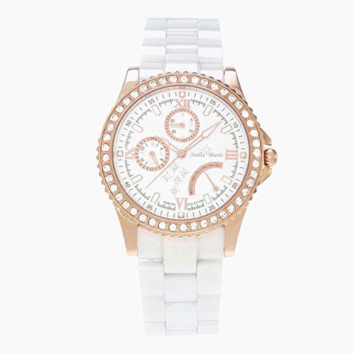 Stella Maris Analog Quarz Premium Keramik Diamanten STM15N3