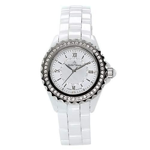 Stella Maris Damen-Armbanduhr Analog Quarz Premium Keramik Diamanten - STM15E2