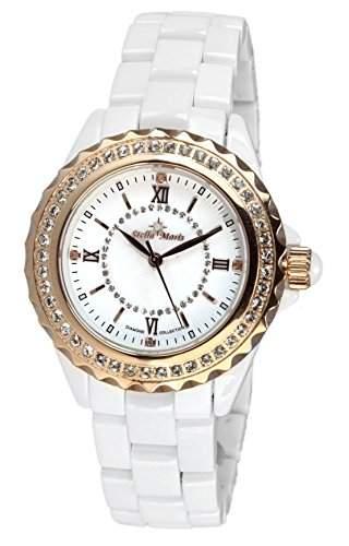 Stella Maris Damen-Armbanduhr Analog Quarz Premium Keramik Diamanten - STM15E3
