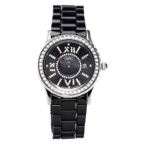 Stella Maris Damen-Armbanduhr Analog Quarz Premium Keramik Diamanten - STM15E7