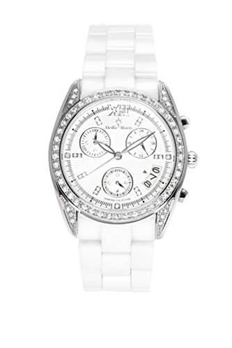 Stella Maris Damen-Armbanduhr Analog Quarz Premium Keramik Diamanten - STM15F1