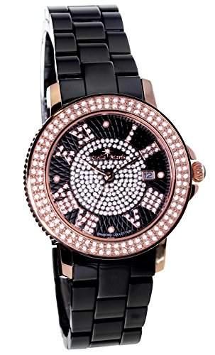 Stella Maris Damen-Armbanduhr Analog Quarz Premium Keramik Diamanten - STM15P4