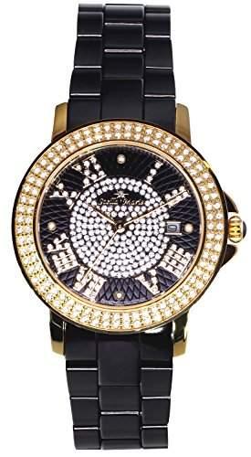 Stella Maris Damen-Armbanduhr Analog Quarz Premium Keramik Diamanten - STM15P6