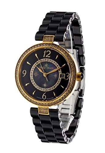 Stella Maris Damen-Armbanduhr Analog Quarz Premium Keramik Diamanten - STM15SM12