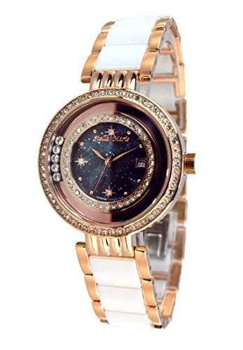 Stella Maris Damen-Armbanduhr Analog Quarz Premium Keramik Diamanten - STM15SM15