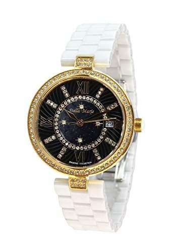 Stella Maris Damen-Armbanduhr Analog Quarz Premium Keramik Diamanten - STM15SM5