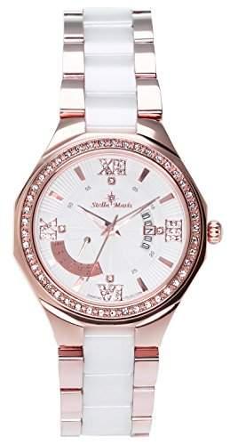 Stella Maris Damen-Armbanduhr Analog Quarz Premium Keramik Diamanten - STM15Y5