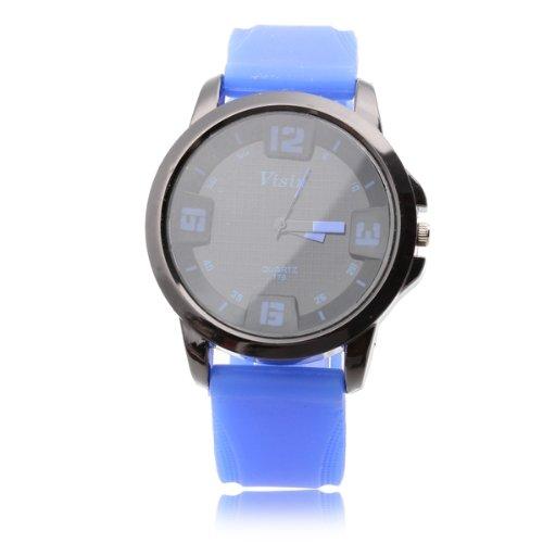 Silikon Armbanduhr Herrenuhr Damenuhr Sportuhr Quarzuhr Quarz Uhr Blau Schwarz