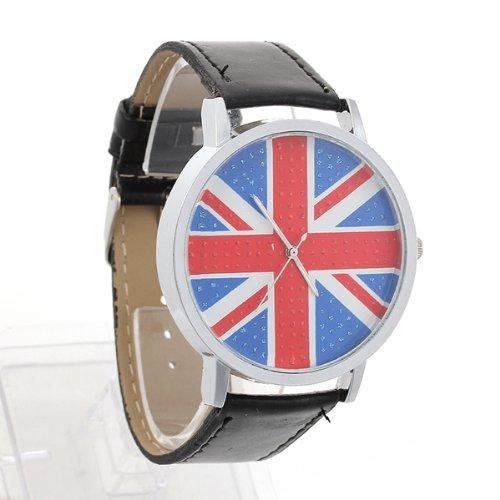 Damenuhr Damen Uhr Herrenuhr Quarzuhr Armbanduhr Herren Uhr Unisex Schwarz PU