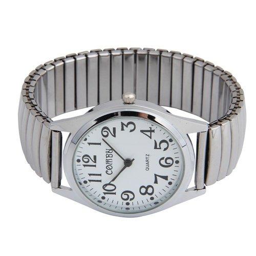 fitTek Edelstahl Armbanduhr Herren Damen Uhr Flexband elastisch Sport Unisex Schmuck