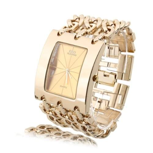 Damen Uhr Armbanduhr Damenuhr Quarzuhren Quarzuhr Watch Legierung Goldfarbe