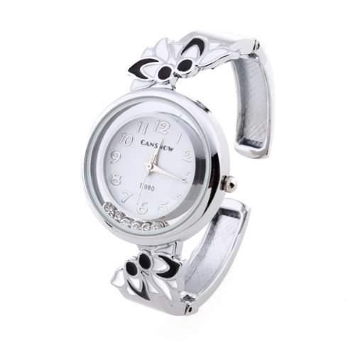 fitTek® Damen Armbanduhren Quarzuhren Uhren Watch Armkette mit Strass Wei? Modisch Uhr