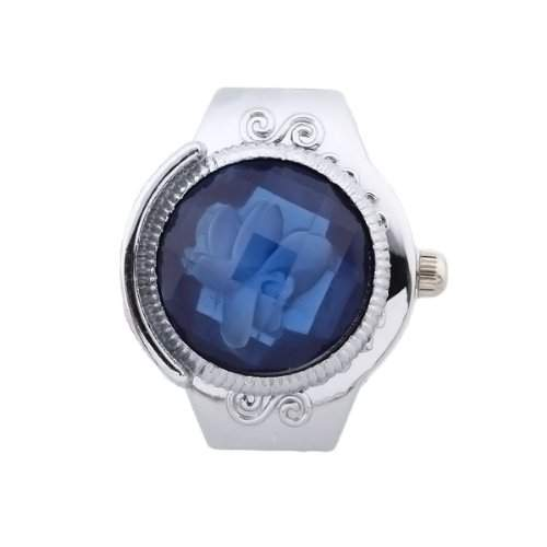 fitTek® Damen Fingeruhr Fingerring Ring Uhr Modeschmuck Quarzuhr Uhr