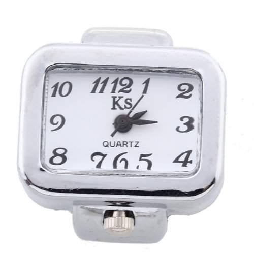 Damen Herren Ring Uhr Fingeruhr Ringuhr Quarzuhr Silberfarbe Modisch