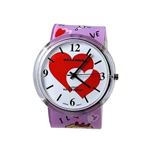 DealMux Kinder Maedchen Jungen I LOVE U Kunststoffband Armbanduhr