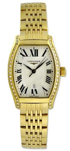 Longines Evidenza 18kt Gold & Diamond Womens Luxury Watch Calendar L21557716