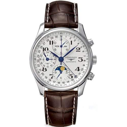 Longines Master Complications Mens Chronograph Moonphase Stainless Steel Automatic Watch L26734783