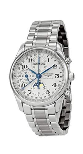 Longines Master Complications Mens Stainless Steel Chronograph Moon Phase Watch L26734786