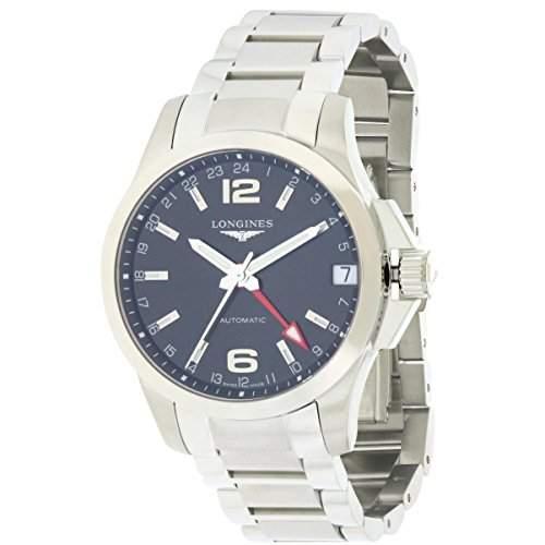 Longines Conquest Herren 41mm Silber Edelstahl Armband & Gehaeuse Uhr L36874566