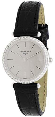 Longines La Grande Classique Agassiz 18kt White Gold & Diamond Womens Watch Grey Dial L41917722