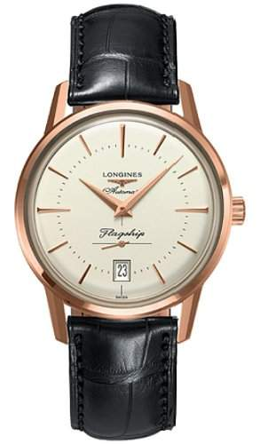 Longines Flagship Heritage Automatic 18kt Rose Gold Mens Watch L47958782